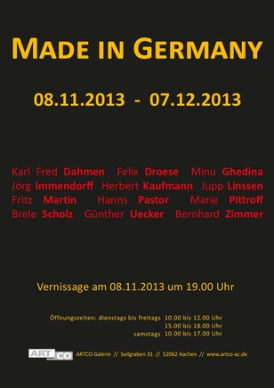 MADE IN GERMANY Group show